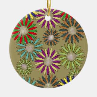 Floral Fantasy Ceramic Ornament