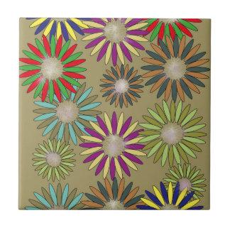 Floral Fantasy Ceramic Tile