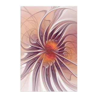Floral Fantasy, Colorful Abstract Fractal Flower. Acrylic Print