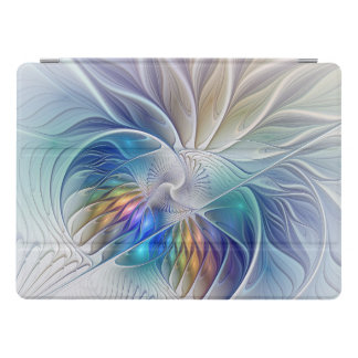 Floral Fantasy, Colorful Abstract Fractal Flower iPad Pro Cover