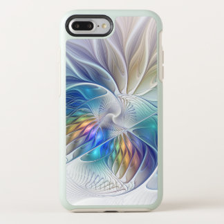 Floral Fantasy, Colorful Abstract Fractal Flower OtterBox Symmetry iPhone 8 Plus/7 Plus Case