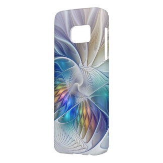 Floral Fantasy, Colorful Abstract Fractal Flower Samsung Galaxy S7 Case