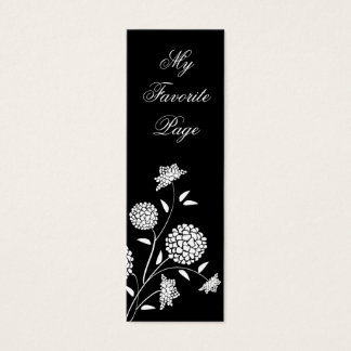 Floral Fantasy Double Sided Bookmark Mini Business Card
