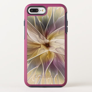 Floral Fantasy Gold Aubergine Abstract Fractal Art OtterBox Symmetry iPhone 8 Plus/7 Plus Case