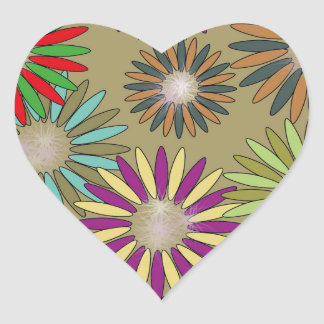 Floral Fantasy Heart Sticker