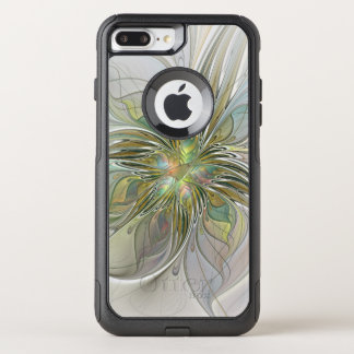Floral Fantasy Modern Fractal Art Flower With Gold OtterBox Commuter iPhone 8 Plus/7 Plus Case