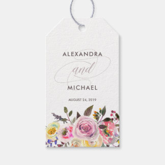 Floral Fantasy | Modern Watercolor Wedding Favor Gift Tags