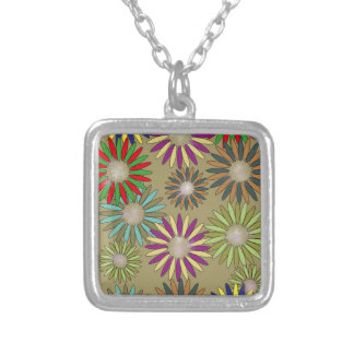 Floral Fantasy Silver Plated Necklace