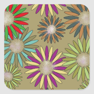 Floral Fantasy Square Sticker