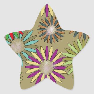 Floral Fantasy Star Sticker