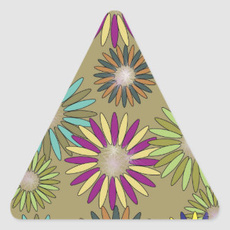 Floral Fantasy Triangle Sticker