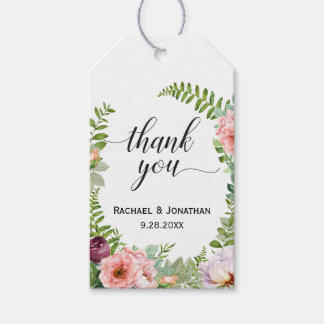 Floral Fantasy Wedding Favor Thank You Gift Tags