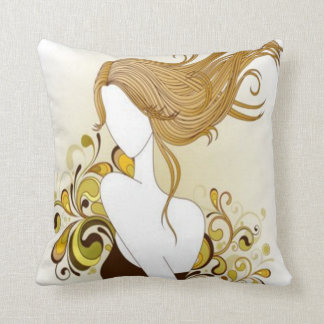Floral Fashion Girl Pillow