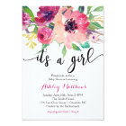 Floral feathers Floral Baby Shower Invitation