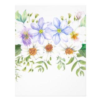 Floral Field Bouquet Letterhead