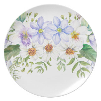 Floral Field Bouquet Party Plate