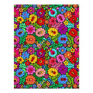 Floral Fiesta scrapbook paper 8.5x11