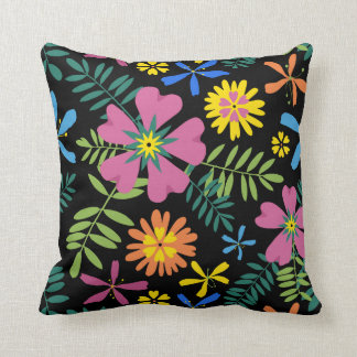 Floral Fiesta Two Throw Pillow