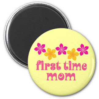 Floral First Time Mom Magnet