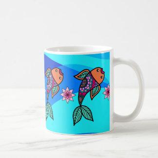 Floral Fish Pattern Mug