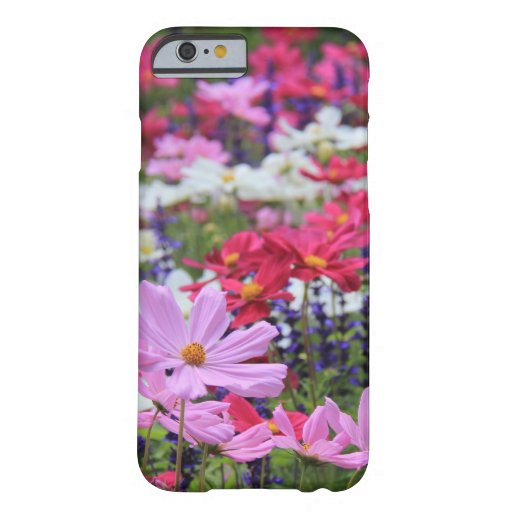Floral, fleurs sauvages, roses, blanc, bleu, vert coque iPhone 6 barely there