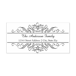 Floral Flourish - Address Self Inking Stamp