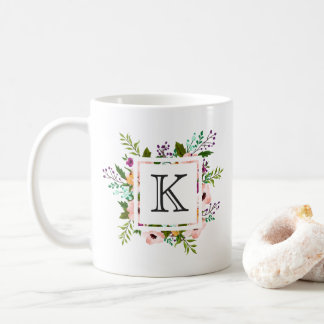Floral Flourish Monogram Coffee Mug