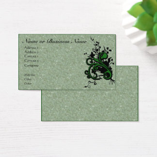 Floral Flourish & Parchment Business Profile Card