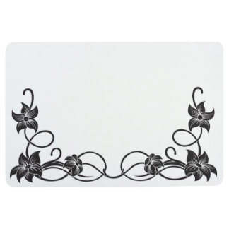 FLORAL FLOURISHES FLOOR MAT