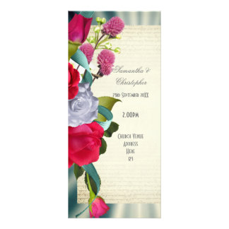 Floral flower bouquet church wedding program