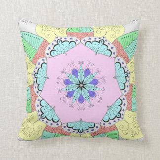 Floral Flower pattern abstract mandala pillow