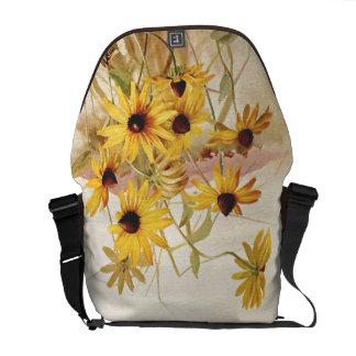 Floral Flower Wildflowers Rickshaw Messenger Bag