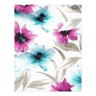 Floral Flowers Colours Art Artistic Beautiful fine Personalized Letterhead