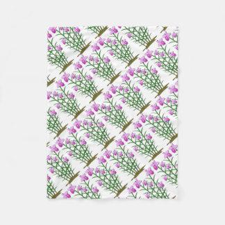 Floral Flowers Custom Personalize Anniversaries Fleece Blanket