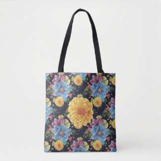 Floral - FLOWERS - Handbag/Tote Tote Bag