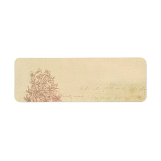 floral flowers vintage wallpaper address label