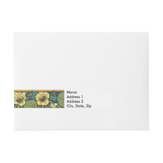 Floral Flowing Flowers Nasturtium Wraparound Address Label
