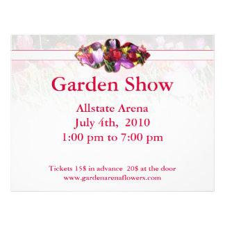 Floral Flyer for Garden Show