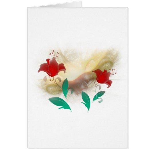 Floral Frac Card