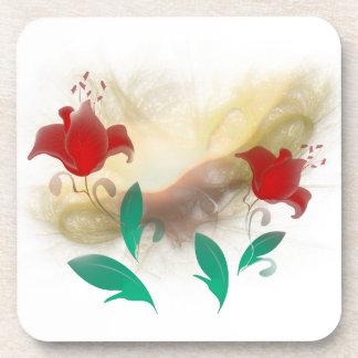 Floral Frac Drink Coaster