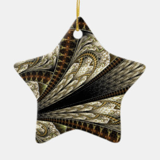 Floral Fractal #2 Ceramic Ornament