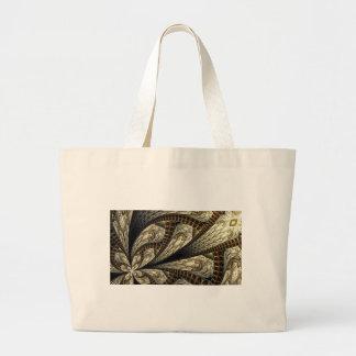 Floral Fractal #2 Large Tote Bag