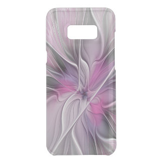 Floral Fractal Modern Abstract Flower Pink Gray Uncommon Samsung Galaxy S8 Plus Case