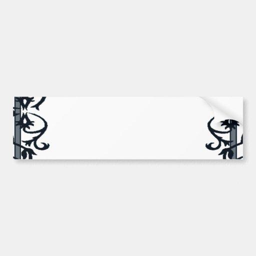 Floral Frame Bumper Sticker
