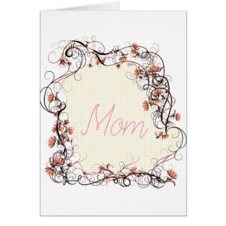 Floral Frame Mother's Day Card