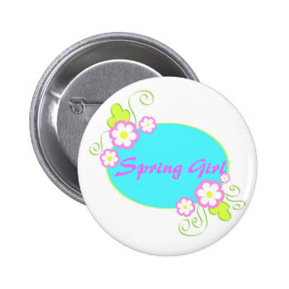 Floral frame - Pin button
