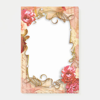 Floral Frame Post-it Notes