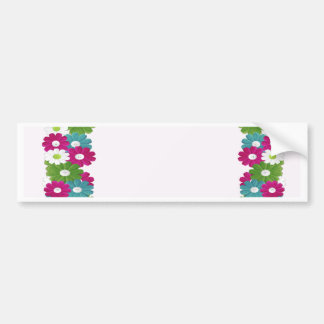 Floral Frame with Custom Name Bumper Sticker