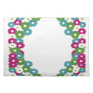 Floral Frame with Custom Name Placemat
