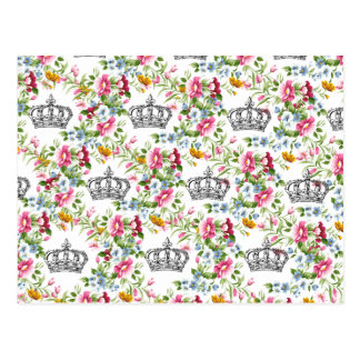 Floral French Crowns Postcard